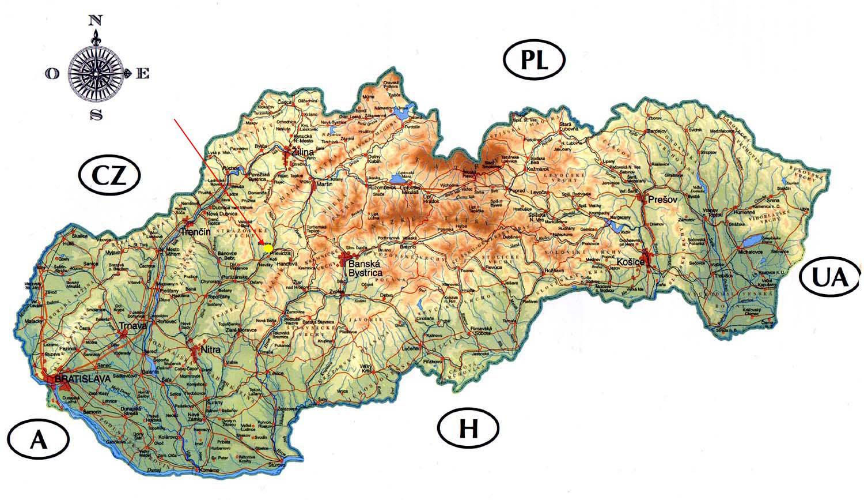 Slowacja Zamki Mapa Zamkow Slowacji Europa Wschodnia Europa