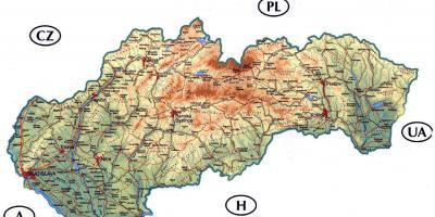 Slowacja Mapa Mapy Slowacji Europa Wschodnia Europa